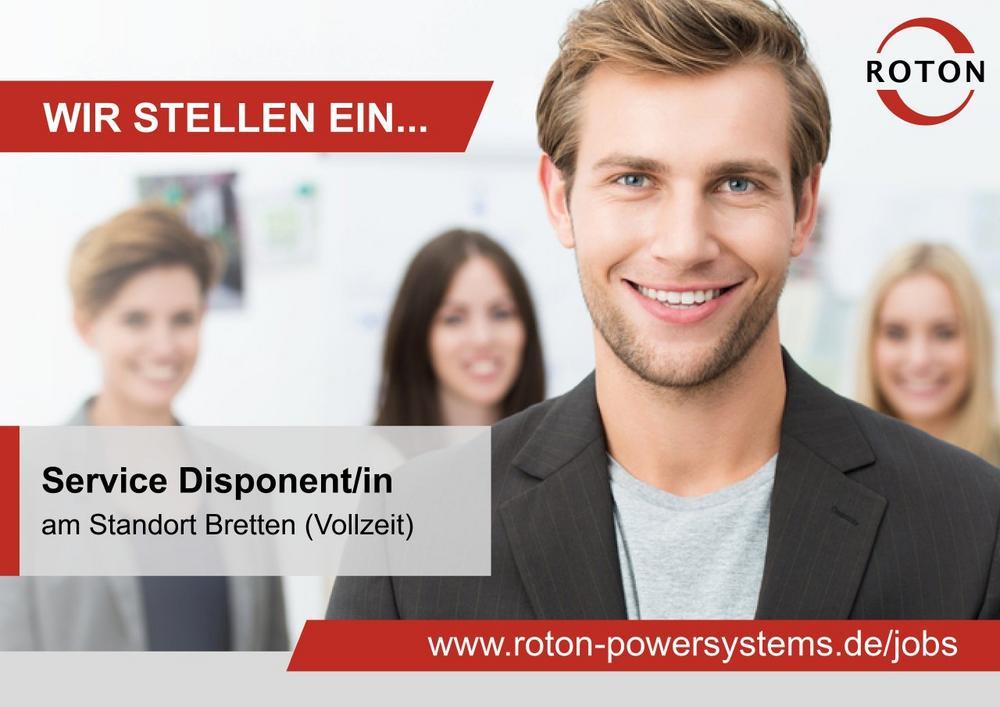 Service Disponent/in (m/w/d) (Vollzeit | Bretten)