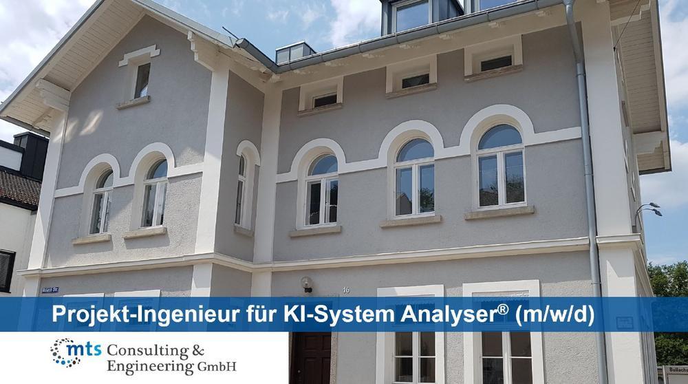 Projekt-Ingenieur für KI-System Analyser® (m/w/d) (Vollzeit   Fürstenfeldbruck)