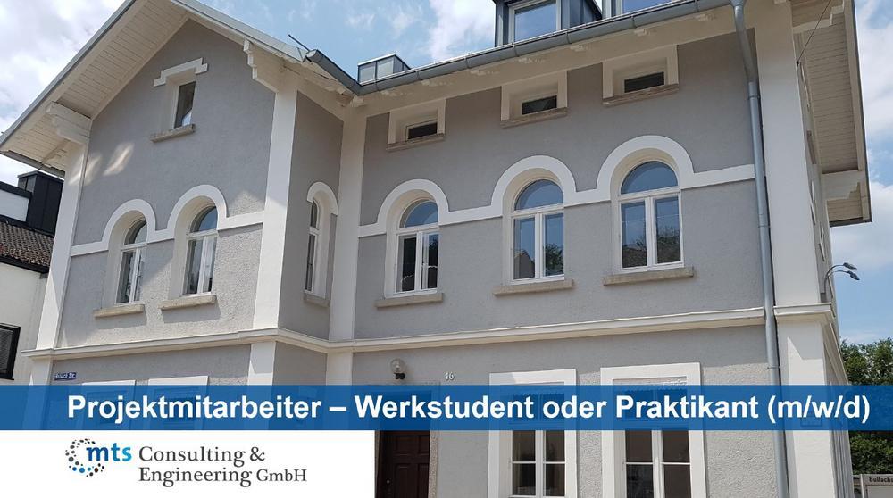 Projektmitarbeiter – Werkstudent oder Praktikant (m/w/d) (Studentenjob | Fürstenfeldbruck)